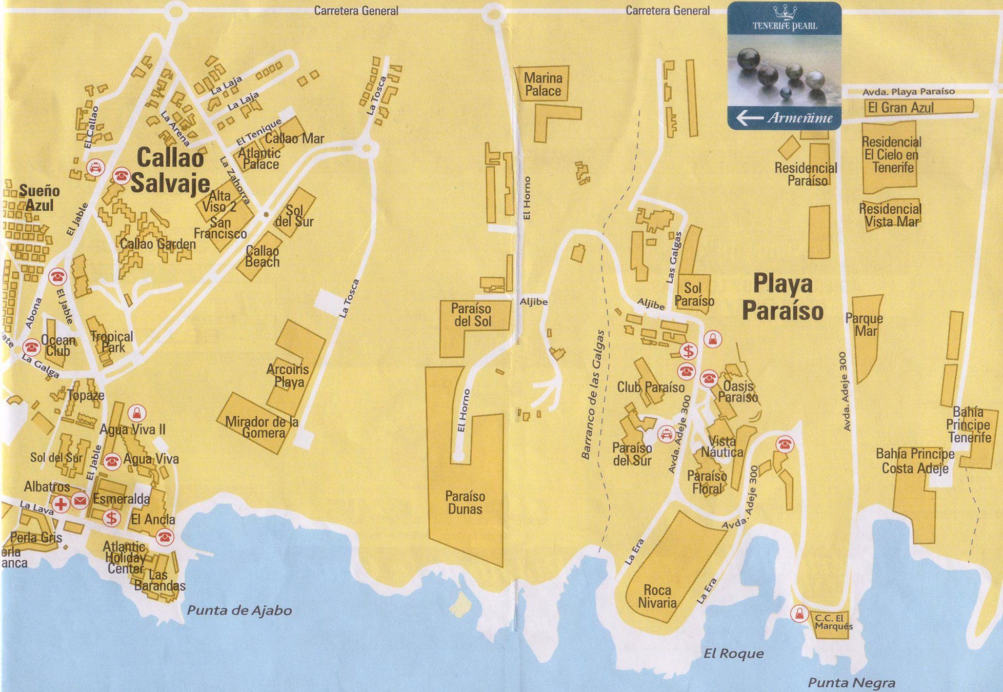 Playa Paraiso Maps and Brochures
